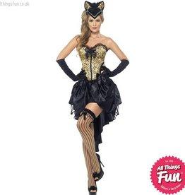 Smiffys *DISC* Burlesque Kitty Costume