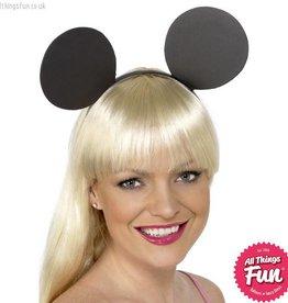 Smiffys Black Mouse Ears on Headband