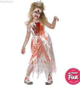 Smiffys *DISC* Zombie Sleeping Princess Costume