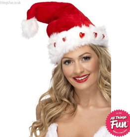 Smiffys Deluxe Light Up Santa Hat