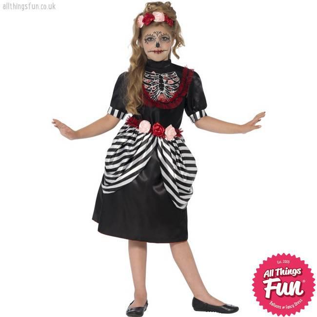 Smiffys Sugar Skull Costume