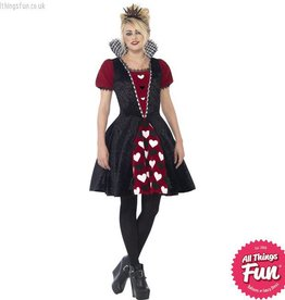 Smiffys Teen Deluxe Dark Red Queen Costume