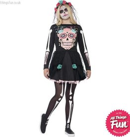Smiffys Teen Sugar Skull Sweetie Costume