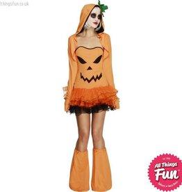 Smiffys Fever Pumpkin Costume Tutu Dress