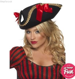 Smiffys Fever Black Pirate Hat