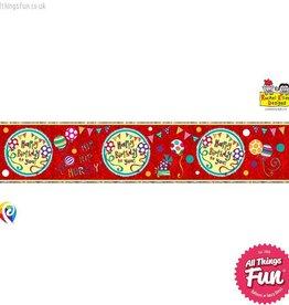 Pioneer Balloon Company Foil Banner - Happy Birthday Wow