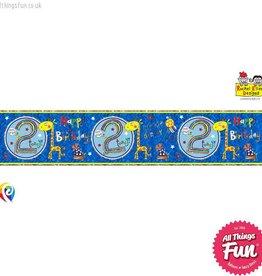 Pioneer Balloon Company Foil Banner - Age 2 Giraffe