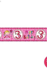 Pioneer Balloon Company Foil Banner - Age 3 Princess