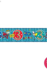 Pioneer Balloon Company Foil Banner - Age 3 Super Hero