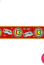 Pioneer Balloon Company Foil Banner - Age 13 Wow