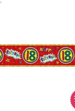 Pioneer Balloon Company Foil Banner - Age 18 Wow