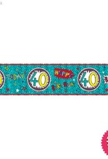 Pioneer Balloon Company Foil Banner - Age 40 Wow