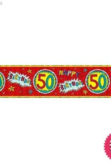 Pioneer Balloon Company Foil Banner - Age 50 Wow