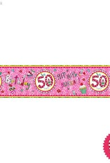 Pioneer Balloon Company Foil Banner - Age 50 Perfect Pink