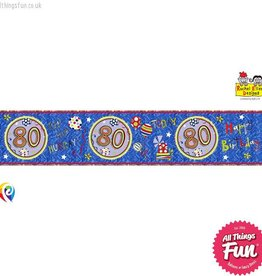 Pioneer Balloon Company Foil Banner - Age 80 Happy Birthday