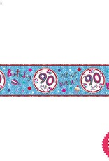 Pioneer Balloon Company Foil Banner - Age 90 Happy Birthday
