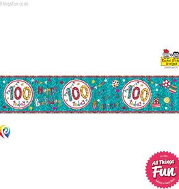 Pioneer Balloon Company Foil Banner - Age 100 Happy Birthday