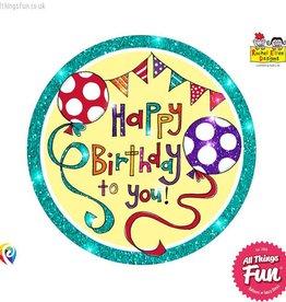 Pioneer Balloon Company Fliter Badge - Happy Birthday Banner&Balloons