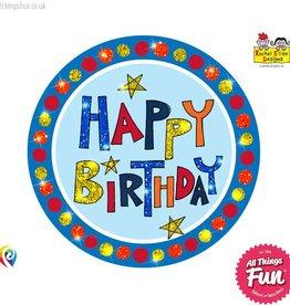 Pioneer Balloon Company Fliter Badge - Happy Birthday Multi-Coloured
