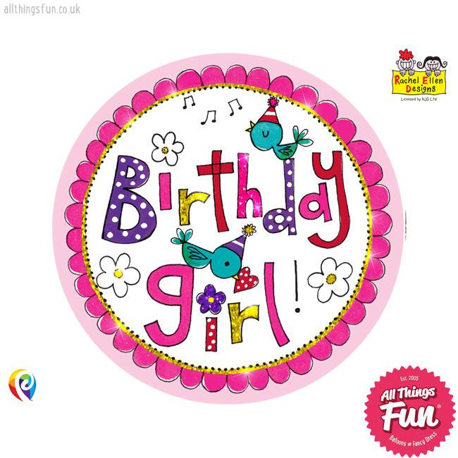 Pioneer Balloon Company Fliter Badge - Birthday Girl