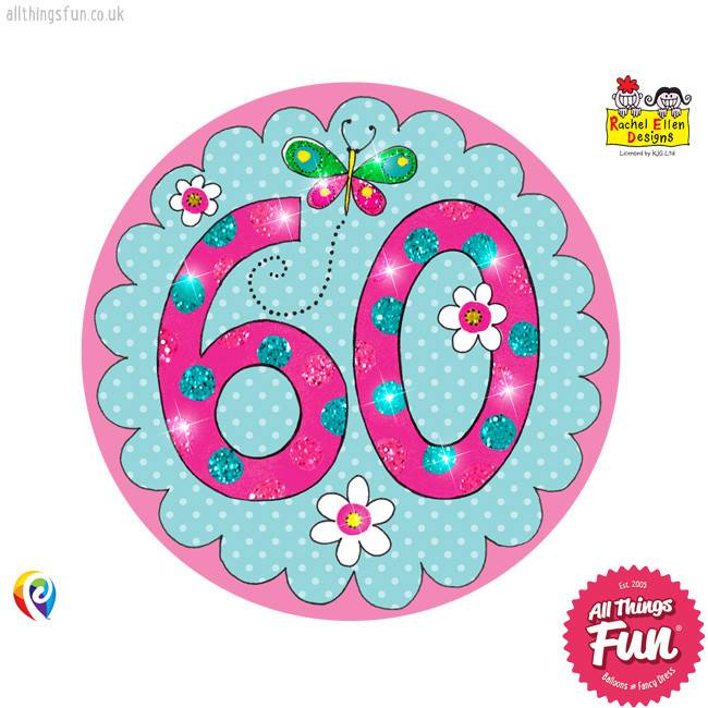 Pioneer Balloon Company Fliter Badge - Age 60 Perfect Pink
