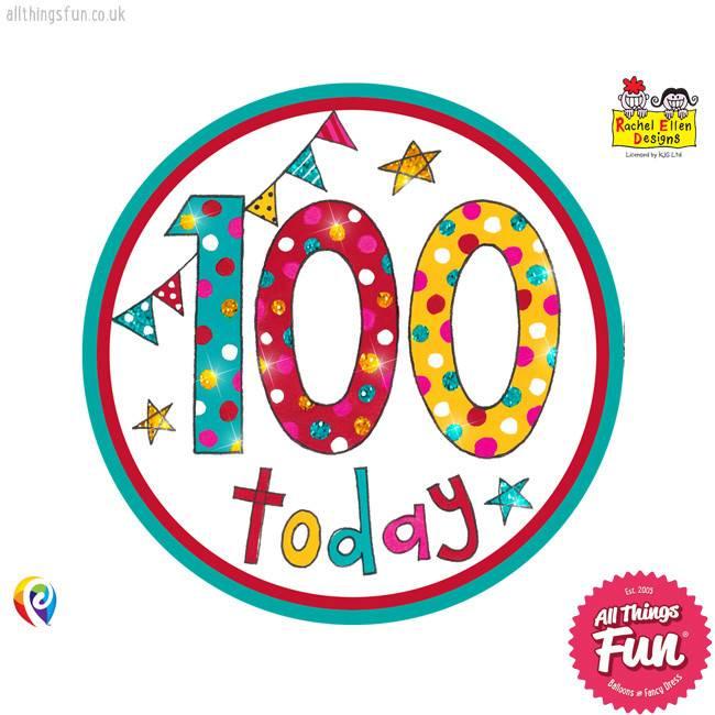 Pioneer Balloon Company Fliter Badge - Age 100 Happy Birthday