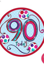 Pioneer Balloon Company Fliter Badge - Age 90 Happy Birthday