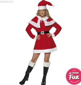 Smiffys Miss Santa Fleece Costume