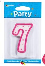 Pioneer Balloon Company Candle - #Seven Pink Polka Dot