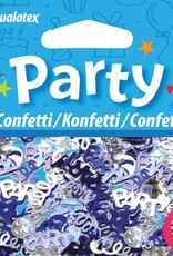 Pioneer Balloon Company Confetti - Party Swirls Blue & Silver