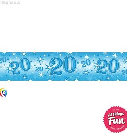 Pioneer Balloon Company Foil Banner - Age 20 Blue Sparkle