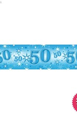 Pioneer Balloon Company Foil Banner - Age 50 Blue Sparkle