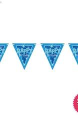 Pioneer Balloon Company Flag Banner - Happy Birthday Blue Sparkle