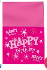Pioneer Balloon Company Table Cover - Happy Birthday Pink Sparkle