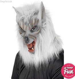 Smiffys Grey Wolf Overhead Latex Mask