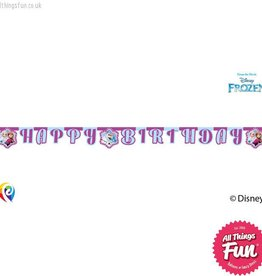 Procos Disney Frozen - Banner 1Ct - Happy Birthday