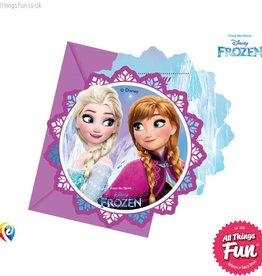 Procos Disney Frozen - Invitations & Envelopes 6Ct