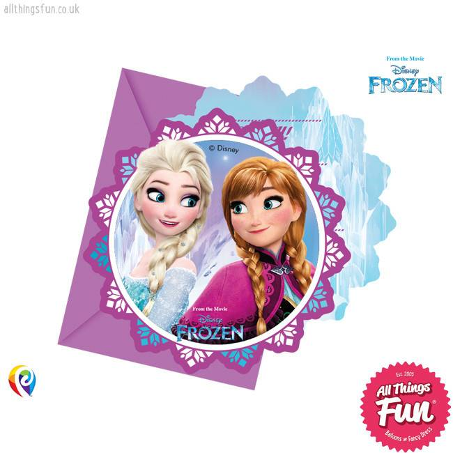 Procos Disney Frozen - Invitations & Envelopes 6Ct