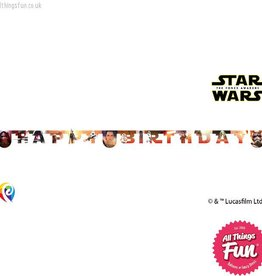 Procos Star Wars The Force Awakens - Banner 1Ct - Happy Birthday