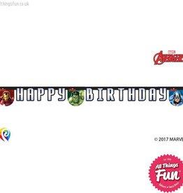 Procos Avengers Power - Banner 1Ct - Happy Birthday