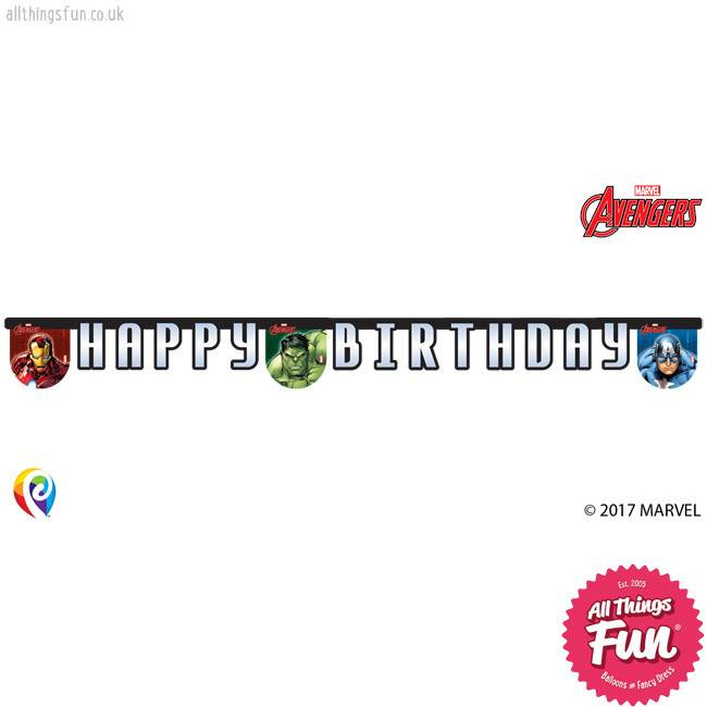 Procos Avengers Power - Banner 1Ct - Happy Birthday