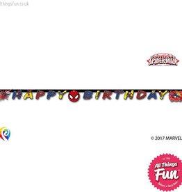 Procos Ultimate Spiderman - Banner 1Ct - Happy Birthday