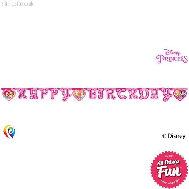 Procos Disney Princess - Banner 1Ct - Happy Birthday