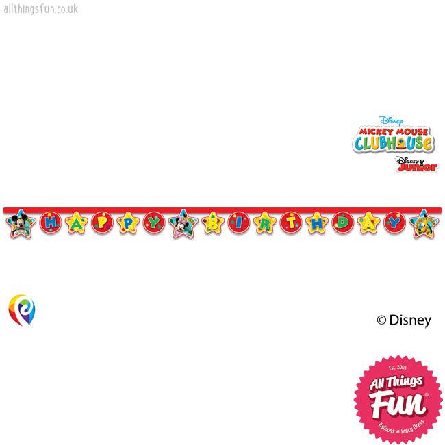 Procos Playful Mickey - Banner 1Ct - Happy Birthday