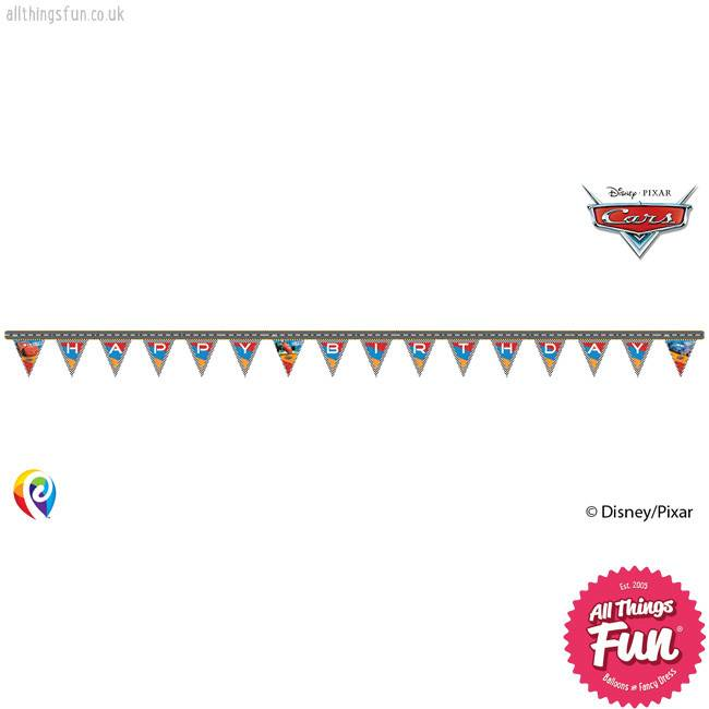 Procos Disney Cars - Banner 1Ct - Happy Birthday