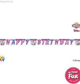 Procos Sofia The First - Banner 1Ct - Happy Birthday
