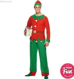 Smiffys Adult Elf Costume