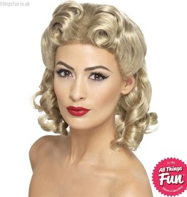 Smiffys 40's Blonde Sweetheart Wig with Curls