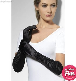 Smiffys Black Long Temptress Gloves