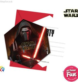 Procos Star Wars The Force Awakens - Invitations & Envelopes 6Ct